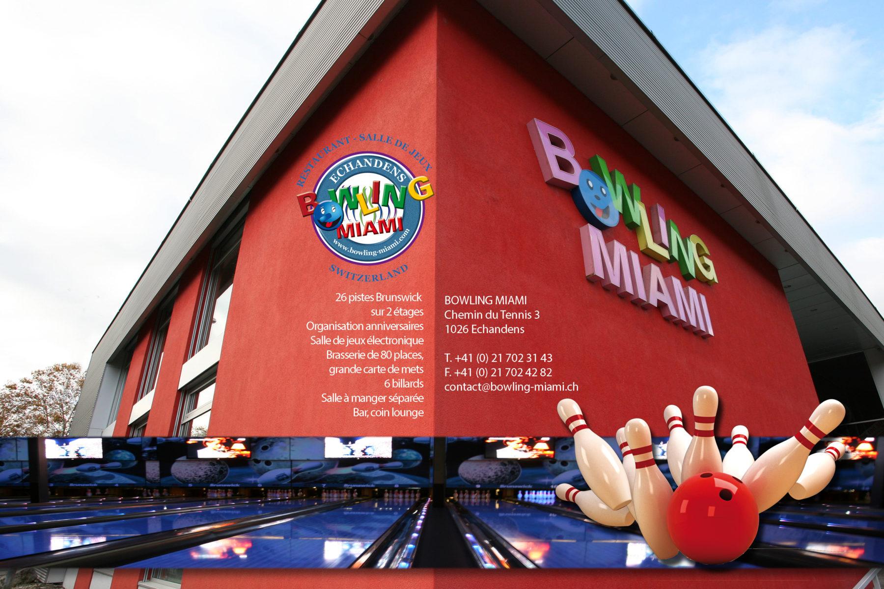 Bowling Miami - Bowling et salle de jeux à Echandens - Lausanne