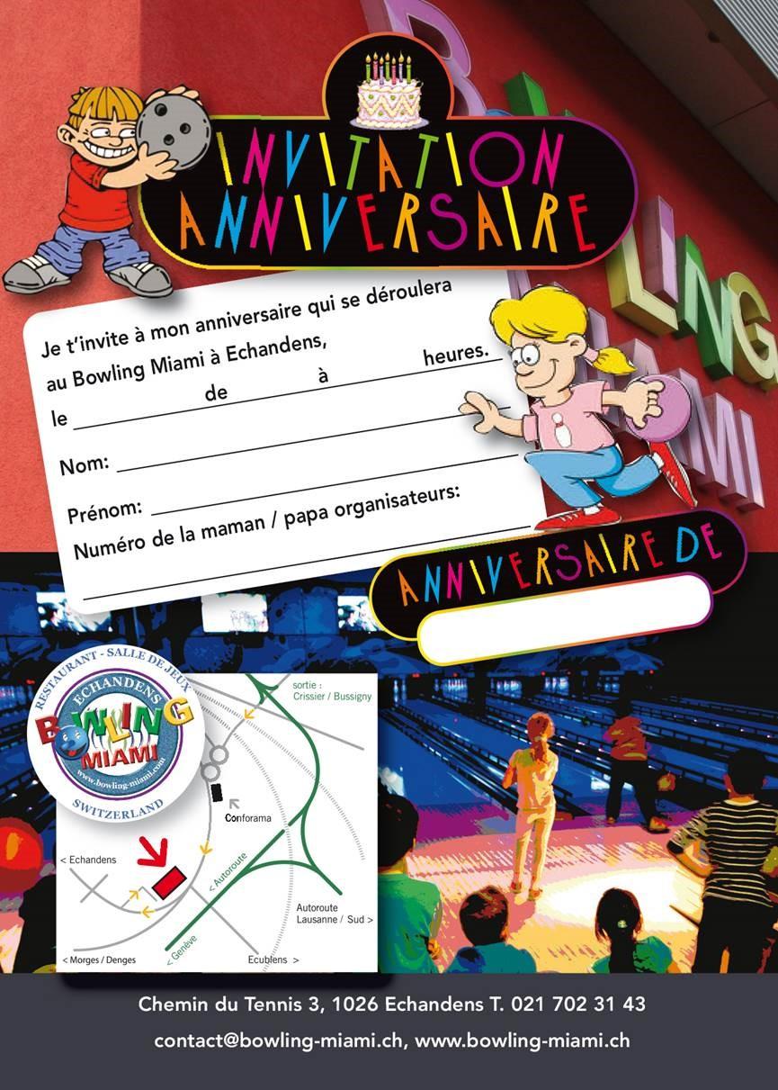 Carte Anniversaire Bowling.Anniversaire Bowling Miami Bowling Et Salle De Jeux A